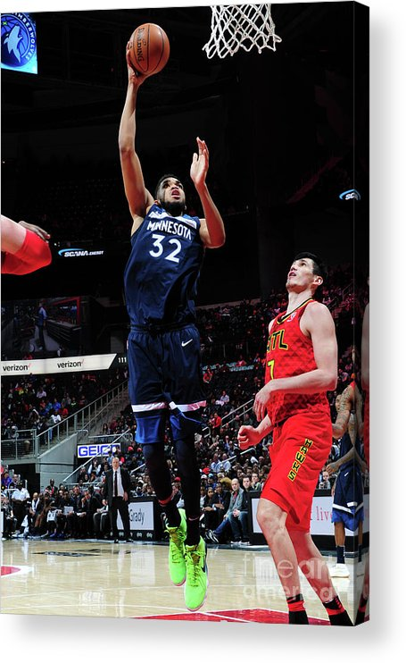 Atlanta Acrylic Print featuring the photograph Minnesota Timberwolves V Atlanta Hawks by Scott Cunningham