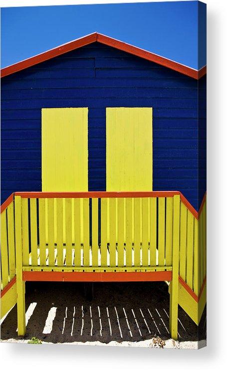 Steps Acrylic Print featuring the photograph Muizenberg Beach by Paul Piebinga