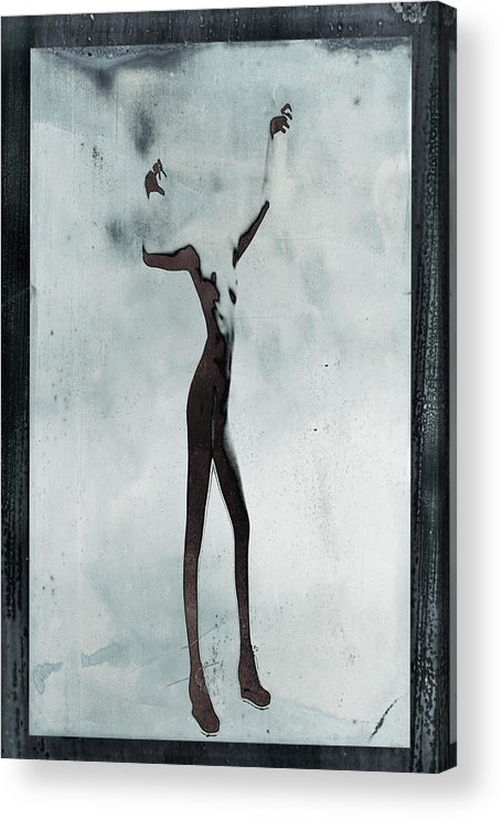 Human Arm Acrylic Print featuring the photograph Naked Body Of Woman Without Head by Win-initiative