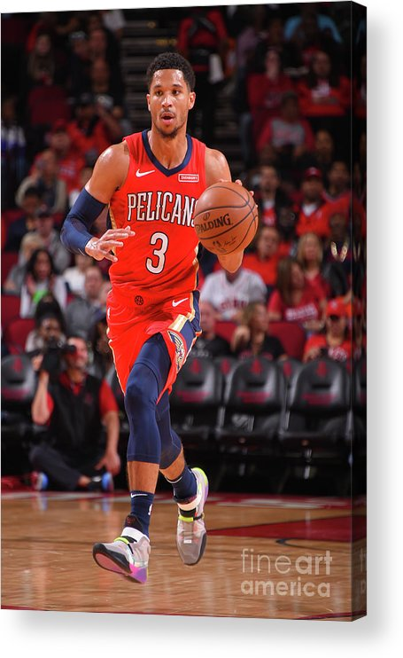 Nba Pro Basketball Acrylic Print featuring the photograph New Orleans Pelicans V Houston Rockets by Bill Baptist