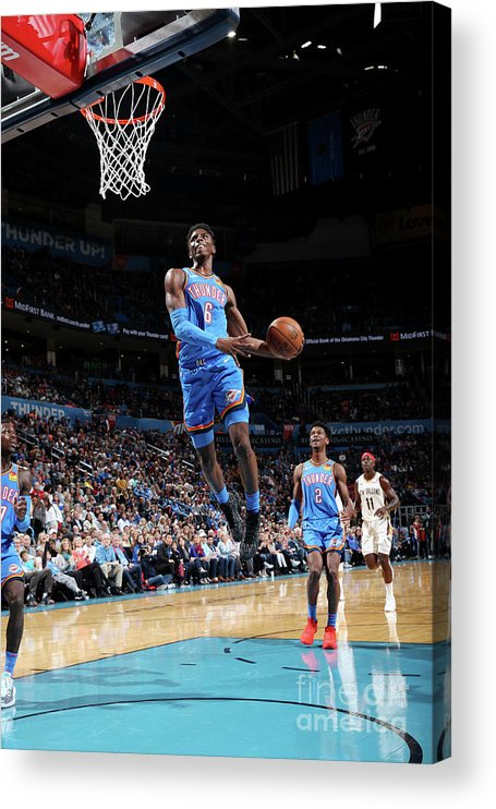 Nba Pro Basketball Acrylic Print featuring the photograph New Orleans Pelicans V Oklahoma City by Zach Beeker