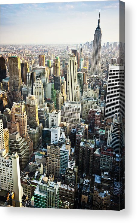 Viewpoint Acrylic Print featuring the photograph New York Skyline Summertime View by Mlenny