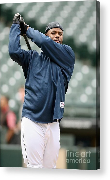 People Acrylic Print featuring the photograph New York Yankees Vs Seattle Mariners by Otto Greule Jr