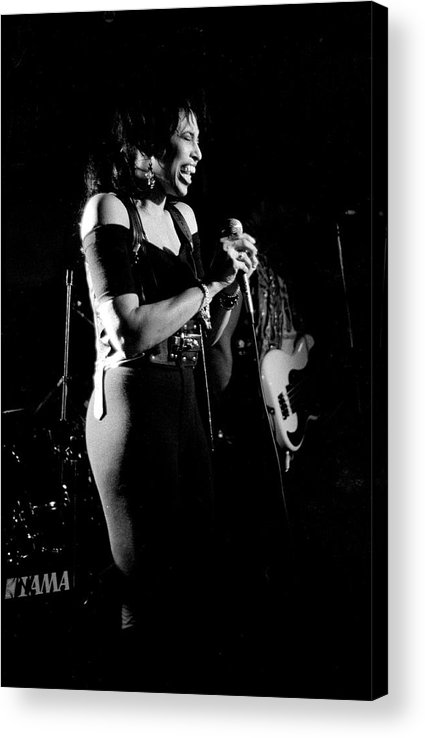 Singer Acrylic Print featuring the photograph Nona Hendryx 1989 by Martyn Goodacre