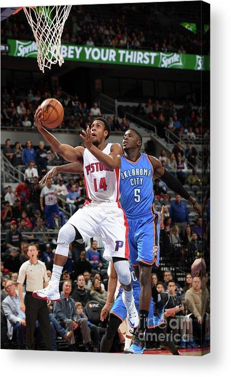 Nba Pro Basketball Acrylic Print featuring the photograph Oklahoma City Thunder V Detroit Pistons by Chris Schwegler