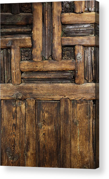 Arch Acrylic Print featuring the photograph Old Wooden Door by Logosstock
