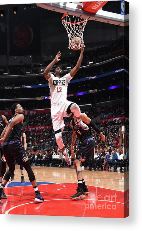 Nba Pro Basketball Acrylic Print featuring the photograph Phoenix Suns V La Clippers by Andrew D. Bernstein