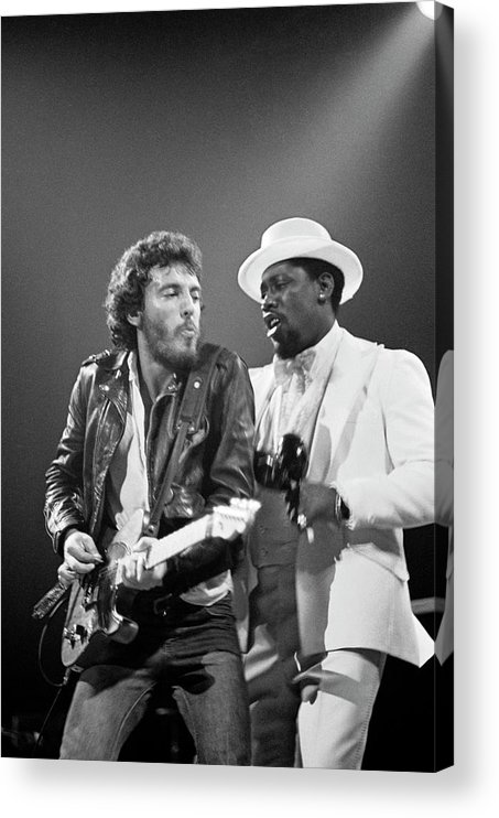 Music Acrylic Print featuring the photograph Photo Of Bruce Springsteen And Clarence by Fin Costello