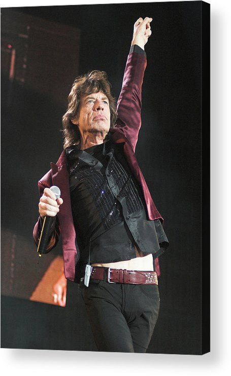 Mick Jagger Acrylic Print featuring the photograph Photo Of Mick Jagger And Rolling Stones by Neil Lupin