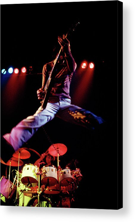 People Acrylic Print featuring the photograph Photo Of Who And Keith Moon And Pete by Andrew Putler