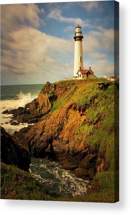 Pigeon Point Light House Acrylic Print featuring the photograph Pigeon Point Light Station, California by Zayne Diamond Photographic