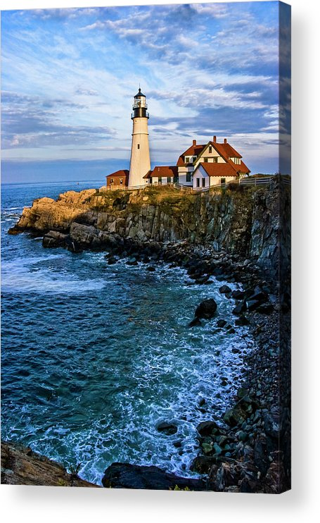 Built Structure Acrylic Print featuring the photograph Portland Head Light by C. Fredrickson Photography
