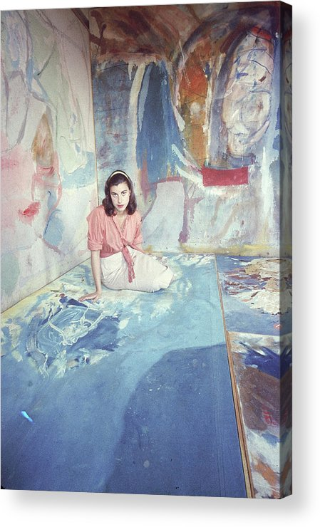 Timeincown Acrylic Print featuring the photograph Portrait Of Helen Frankenthaler by Gordon Parks