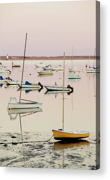 Sailboat Acrylic Print featuring the photograph Provincetown Harbor by Walter Bibikow