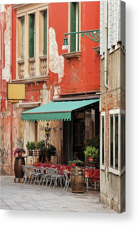 Empty Acrylic Print featuring the photograph Restaurant In Venice by Mammuth