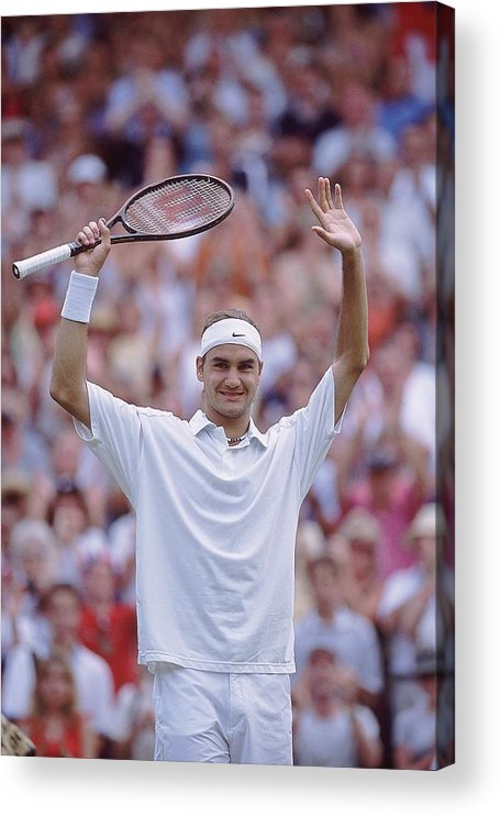 Tennis Acrylic Print featuring the photograph Roger Federer by Clive Brunskill