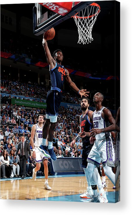 Nba Pro Basketball Acrylic Print featuring the photograph Sacramento Kings V Oklahoma City Thunder by Joe Murphy