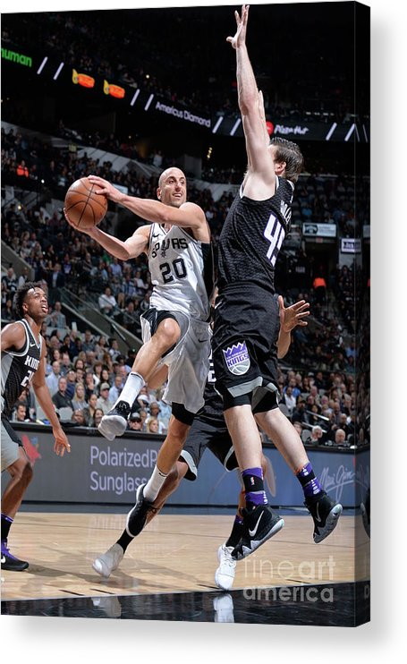 Nba Pro Basketball Acrylic Print featuring the photograph Sacramento Kings V San Antonio Spurs by Mark Sobhani