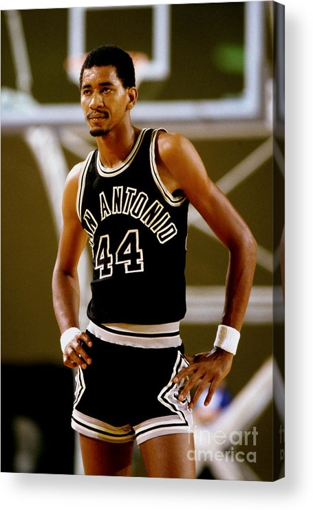 1980-1989 Acrylic Print featuring the photograph San Antonio Spurs George Gervin by Andy Hayt
