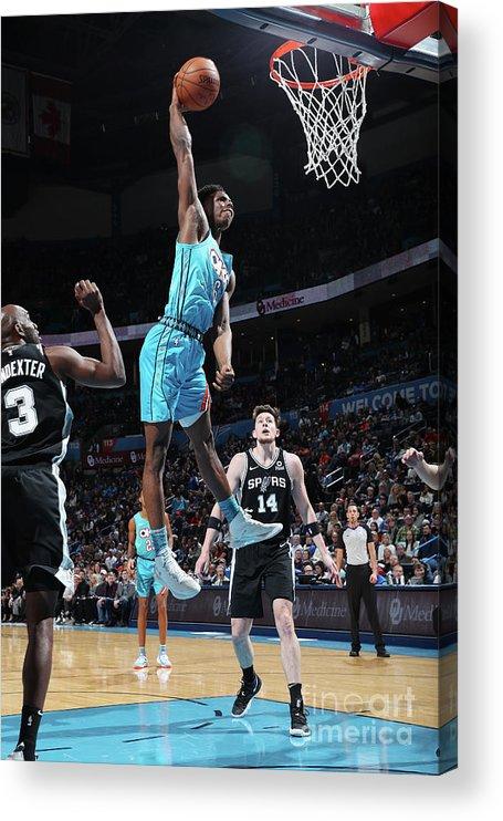 Nba Pro Basketball Acrylic Print featuring the photograph San Antonio Spurs V Oklahoma City by Zach Beeker