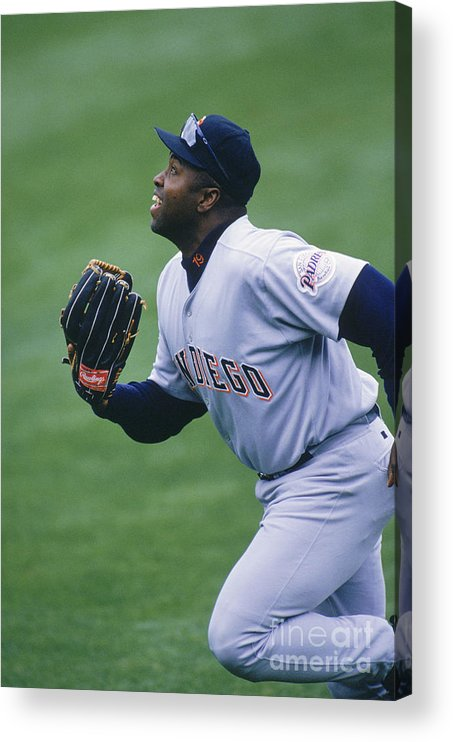 People Acrylic Print featuring the photograph San Diego Padres V Chicago Cubs by John Reid Iii