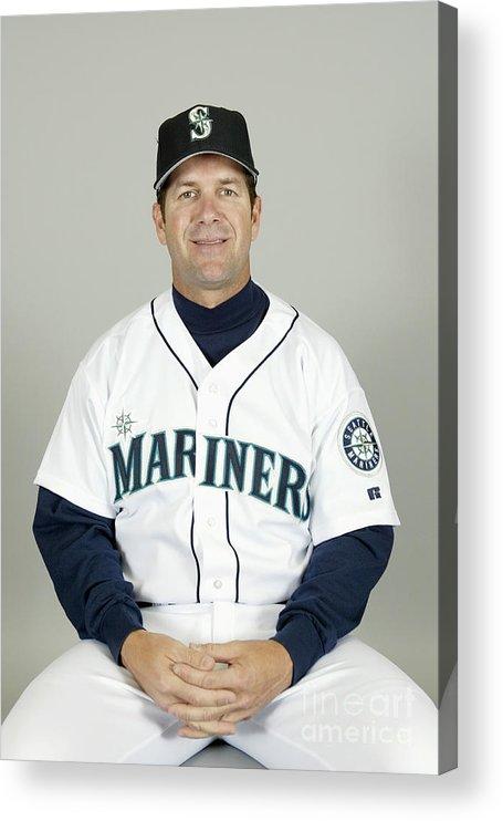 American League Baseball Acrylic Print featuring the photograph Seattle Mariners Headshots by Major League Baseball Photos