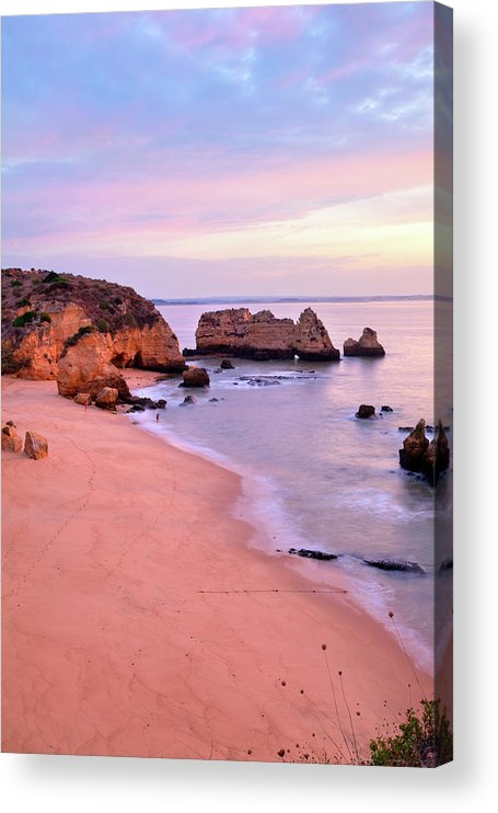 Algarve Acrylic Print featuring the photograph Serene Pastel Shores by M Swiet Productions