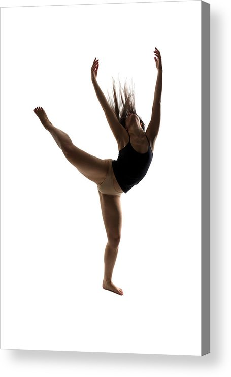 Ballet Dancer Acrylic Print featuring the photograph Silhouette Of A Performing Dancer by Opla