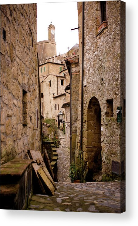 Tranquility Acrylic Print featuring the photograph Sorano, Clock Tower by Luca Deravignone