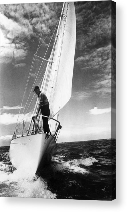 Wind Acrylic Print featuring the photograph Test Sail by David Ashdown