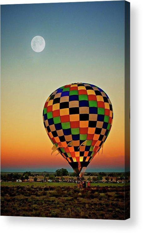 Southwest Acrylic Print featuring the photograph The Dawn of Light, 2017 Albuquerque International Balloon Festival by Zayne Diamond Photographic