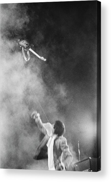 Rock Music Acrylic Print featuring the photograph The Who Performing In Flint, Mi by Michael Ochs Archives