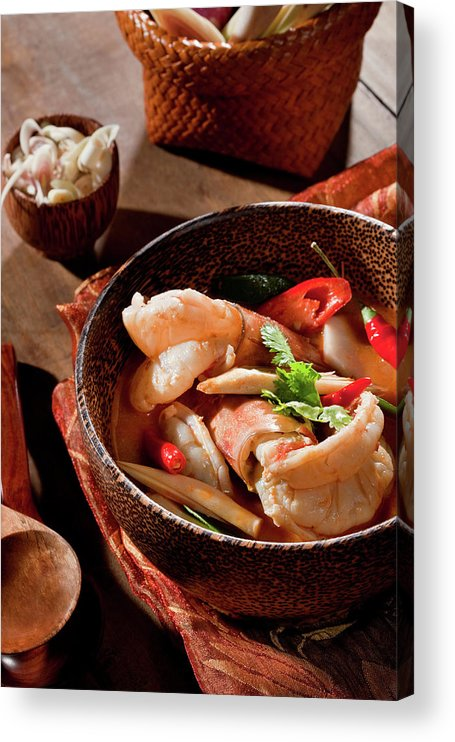 Asian And Indian Ethnicities Acrylic Print featuring the photograph Tom Yum Kung by Shutterworx