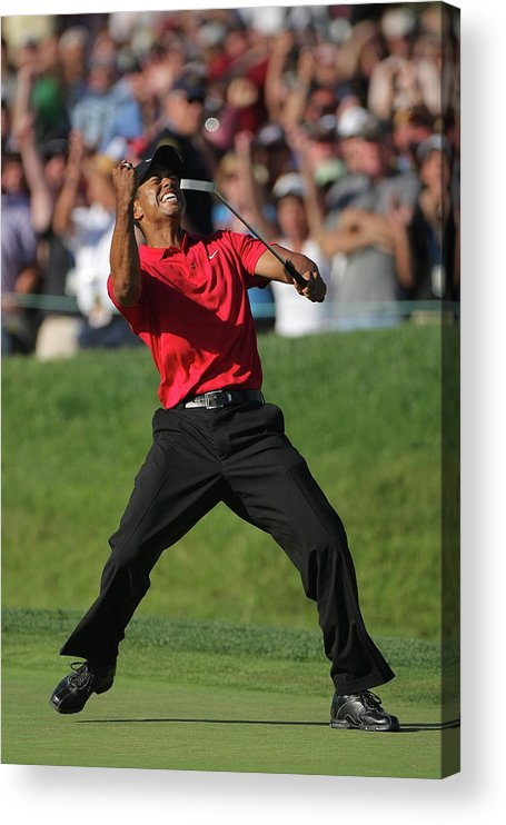 Tiger Woods Acrylic Print featuring the photograph U.s. Open Championship - Final Round by Doug Pensinger