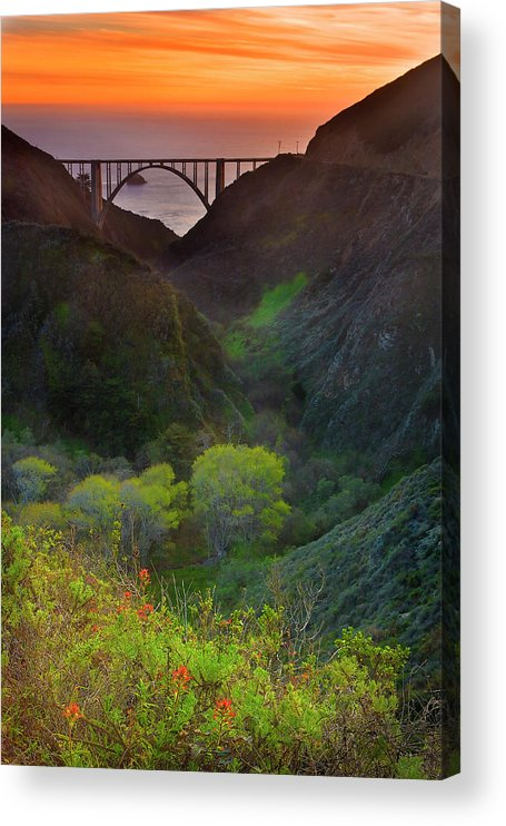 Tranquility Acrylic Print featuring the photograph Usa, California, Big Sur, Bixby Bridge by Don Smith