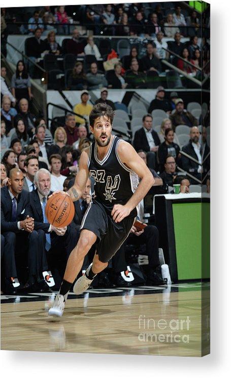 Nicolás Laprovittola Acrylic Print featuring the photograph Washington Wizards V San Antonio Spurs by Mark Sobhani