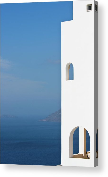 Greece Acrylic Print featuring the photograph Windows To The Blue by Arturbo
