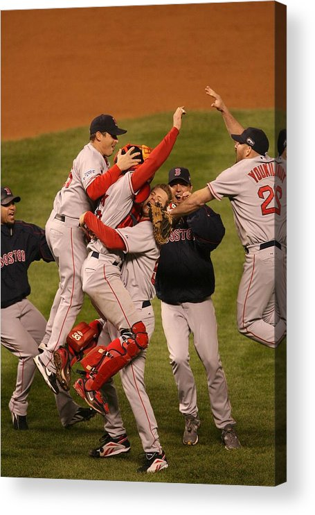 Celebration Acrylic Print featuring the photograph World Series Boston Red Sox V Colorado by Ron Vesely