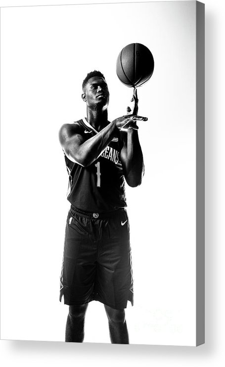 Nba Pro Basketball Acrylic Print featuring the photograph Zion Williamson by Sean Berry