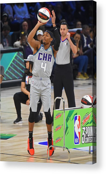 Nba Pro Basketball Acrylic Print featuring the photograph 2020 NBA All-Star - MTN DEW 3-Point Contest by Bill Baptist