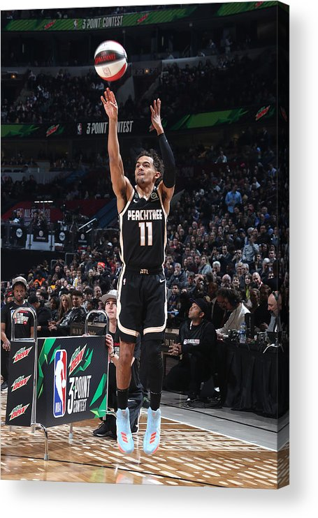 Nba Pro Basketball Acrylic Print featuring the photograph 2020 NBA All-Star - MTN DEW 3-Point Contest by Nathaniel S. Butler
