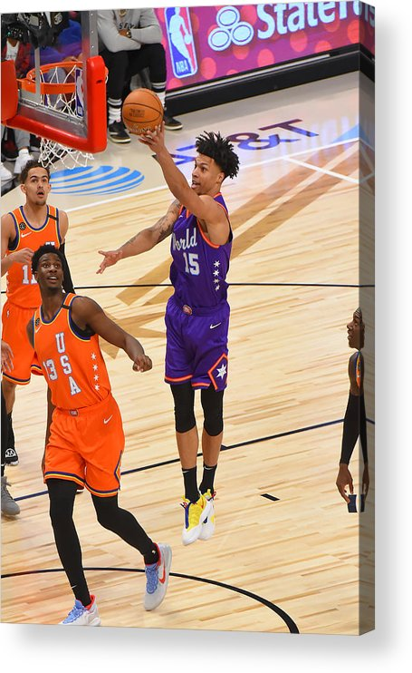 Nba Pro Basketball Acrylic Print featuring the photograph 2020 NBA All-Star - Rising Stars Game by Bill Baptist