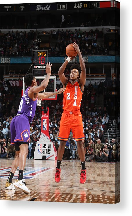 Nba Pro Basketball Acrylic Print featuring the photograph 2020 NBA All-Star - Rising Stars Game by Nathaniel S. Butler