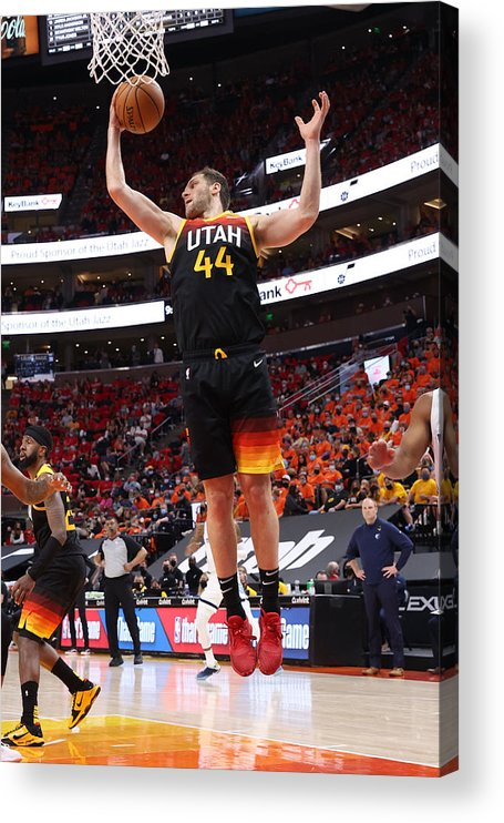 Playoffs Acrylic Print featuring the photograph 2021 NBA Playoffs - Memphis Grizzlies v Utah Jazz by Joe Murphy