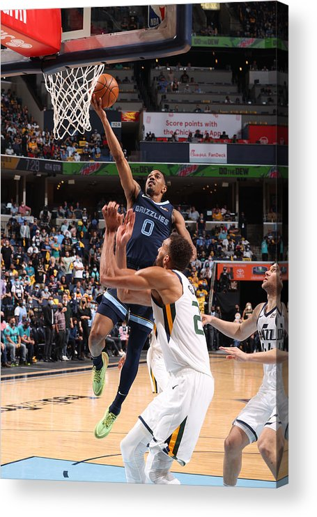 Playoffs Acrylic Print featuring the photograph 2021 NBA Playoffs - Utah Jazz v Memphis Grizzlies by Joe Murphy