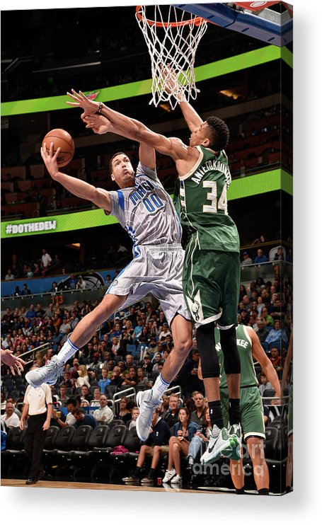 Nba Pro Basketball Acrylic Print featuring the photograph Aaron Gordon by Gary Bassing