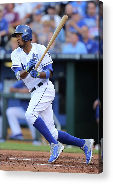 Second Inning Acrylic Print featuring the photograph Alcides Escobar by Ed Zurga