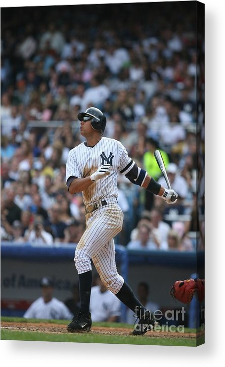 People Acrylic Print featuring the photograph Alex Rodriguez by Rich Pilling