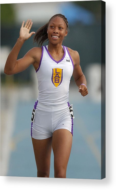 California Acrylic Print featuring the photograph Allyson Felix, National 200-Meter High School Record-Holder by Kirby Lee