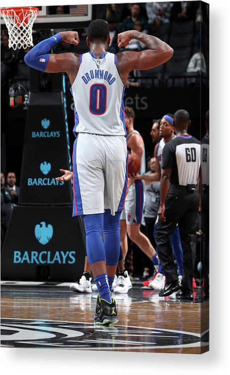 Nba Pro Basketball Acrylic Print featuring the photograph Andre Drummond by Nathaniel S. Butler